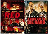 A Good Day to Die Hard & Red (Special Edition) 2 Pack Bruce Willis Movie Action Set