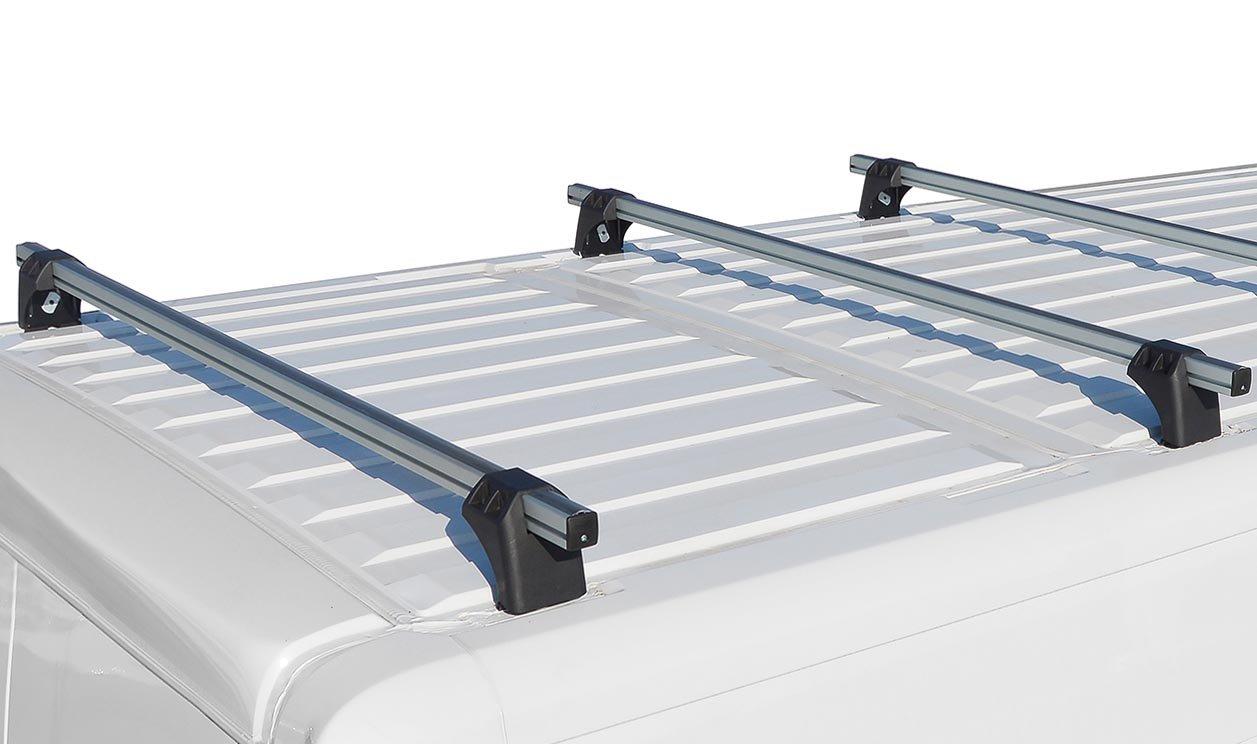 VDP XL Pro200 Alu Dachtr/äger 200kg Lastentr/äger kompatibel mit Renault Trafic 02-14 2 Stangen