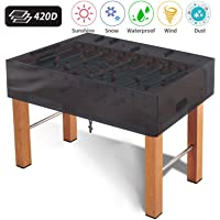 MUAKIOY Foosball Table Cover, Heavy Duty Waterproof Breathable Oxford Fabric Patio Coffee Chair Billiard Soccer Table Cover, Indoor/Outdoor (165×115×50cm) - Black