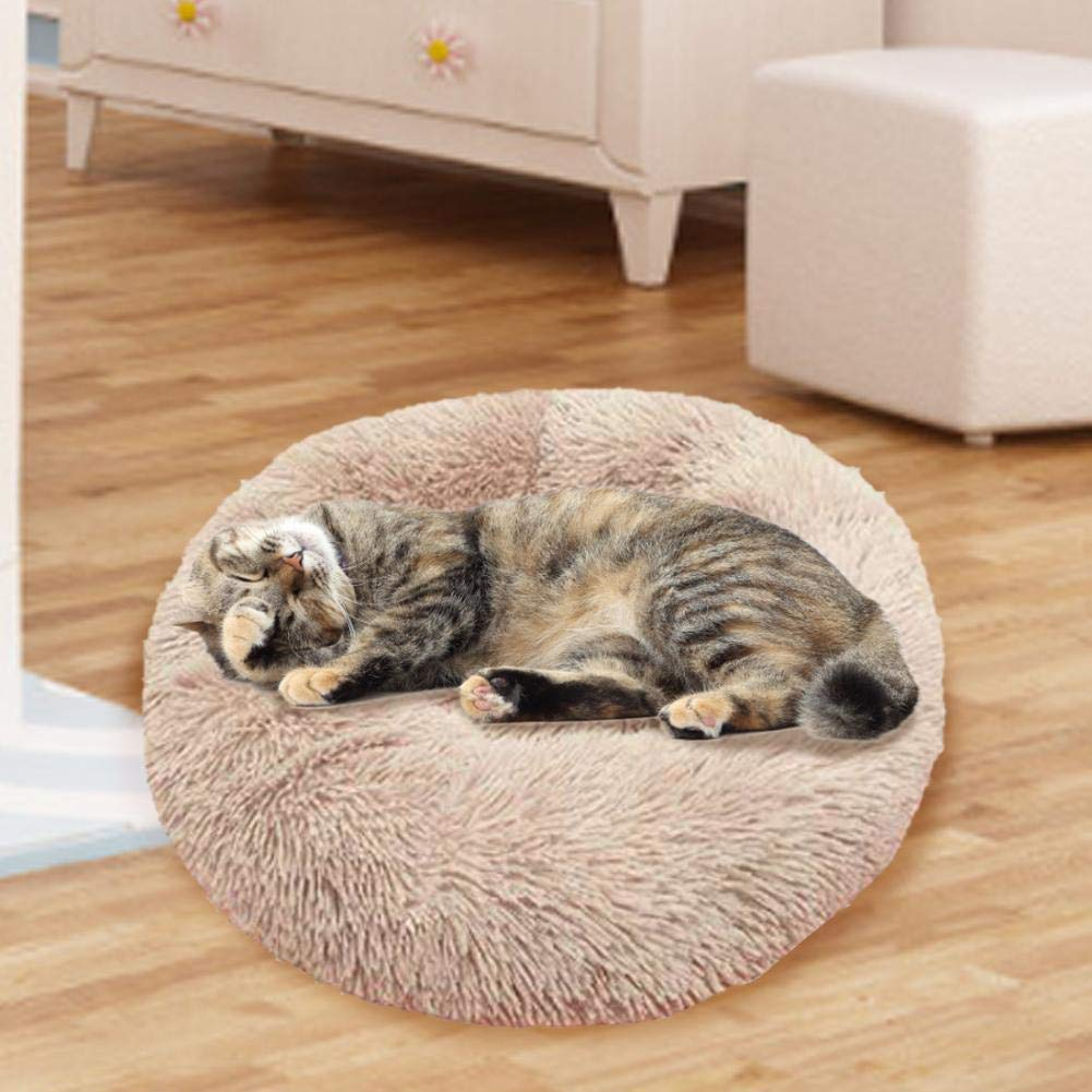 Tianxiu Marshmallow Cat Bed Ultra Morbido Ciambella Cuddler Round Dog Nest Bed Pet Calmante Letto Caldo per Cani E Gatti di Taglia Piccola//Media