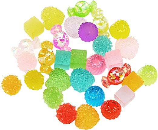 sharprepublic 30 Pack Slime Charms Cute Set - Mixed Candy Sweet ...