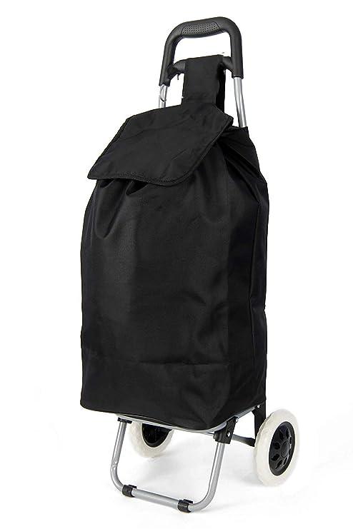 shoppa ligero resistente con ruedas carrito de la compra (Negro shoppa)