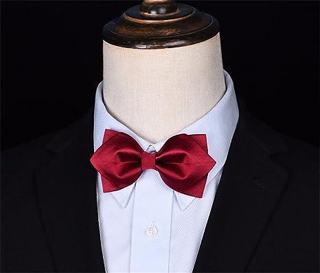 GENTLEE - Corbata para Hombre de Boda o Novio con Lazo, Color Rojo ...