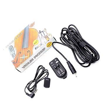 Dilwe Pastilla de Guitarra, Piezo Contacto Pickup Transductor Volumen Controlador Sintonizador Audio Cable Pegatina para Guitarra Violín: Amazon.es: ...