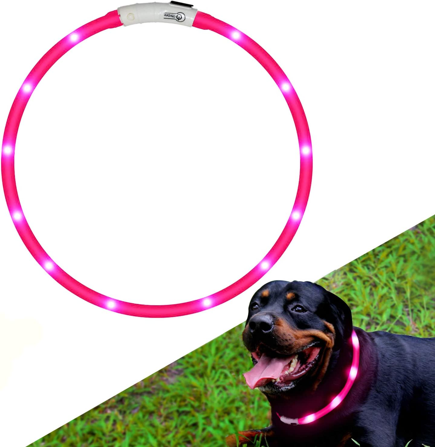 Hunde Leuchthalsband Led Halsband Hundehalsband Hunde Individuell Kürzbar Usb Aufladbar Kabel Im Lieferumfang Enthalten Haustier