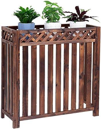 Planta madera, Partición Planta Soporte Organizador Estante exhibición Hotel Restaurante Jardín Jardín Estante flores Divisor Separador Cerca madera, adecuado para aires acondicionados (L85 / 110CM): Amazon.es: Hogar
