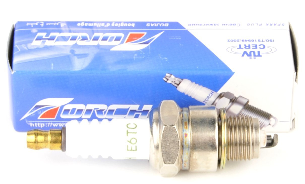 Amazon.com: (2 pack) Torch Spark Plug E6TC NGK BP6HS Denso W20FP-U: Automotive