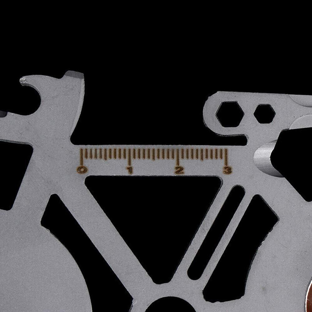 8.5cm Llave de reparaci/ón de Bicicletas multiprop/ósito Tarjeta de Herramienta de monta/ña 4//5//6//7 MZY1188 Tarjeta de Herramientas de Billetera Herramientas de reparaci/ón en Forma de Bicicleta