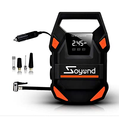 Air Compressor-2020 PP030113 12V DC Portable Auto Tire Pump UPEOR with Digital Display Pressure Gauge up to 150PSI for Car, Bicycle and Other Inflatables: Automotive [5Bkhe0401917]