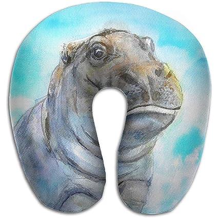 Almohadas De Viaje,Bebé Hipopótamo Almohada Multifuncional ...