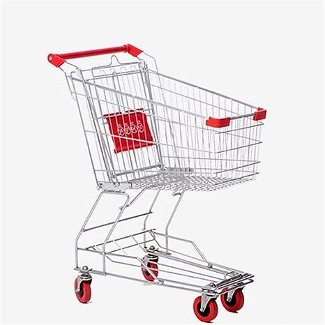 Trolley Carritos de Compras para supermercados, supermercados de usos múltiples Cestas de Compras de Acero