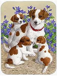 Jack Russell Terriers cristal tabla de cortar grandes ASA2167LCB