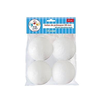 Dohe 18116 - Pack de 4 bolas de poliespan, 60 mm: Oficina y papelería