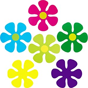 60 Pieces Flower Shaped Cutouts Mini Retro Flower Cutouts for Hippie Party Craft Home Wall Decoration