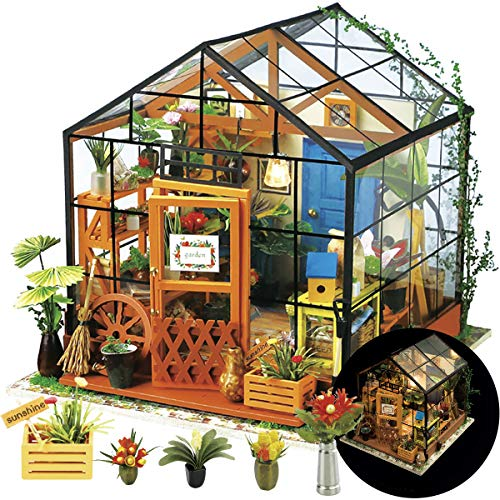 Rolife DIY Dollhouse Miniatures Craft Kits for Adults (Kathy's Green House)