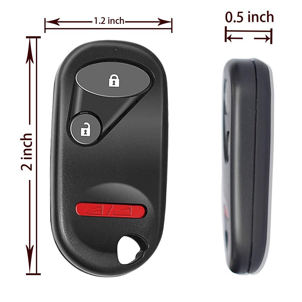 TERRAIN VISION 1Pack Car Key Fob Keyless Entry Remote Fit 2001-2005 Honda Civic EX LX DX//2003-2007 Honda Pilot.(NHVWB1U521)