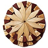 interesting unique kitchen island Natural Wood Trivets For Hot Dishes - 2 Eco-friendly, Sturdy and Durable 7'' Kitchen Hot Pads. Handmade Festive Design Table Decor - Perfect Kitchen Gifts Idea.