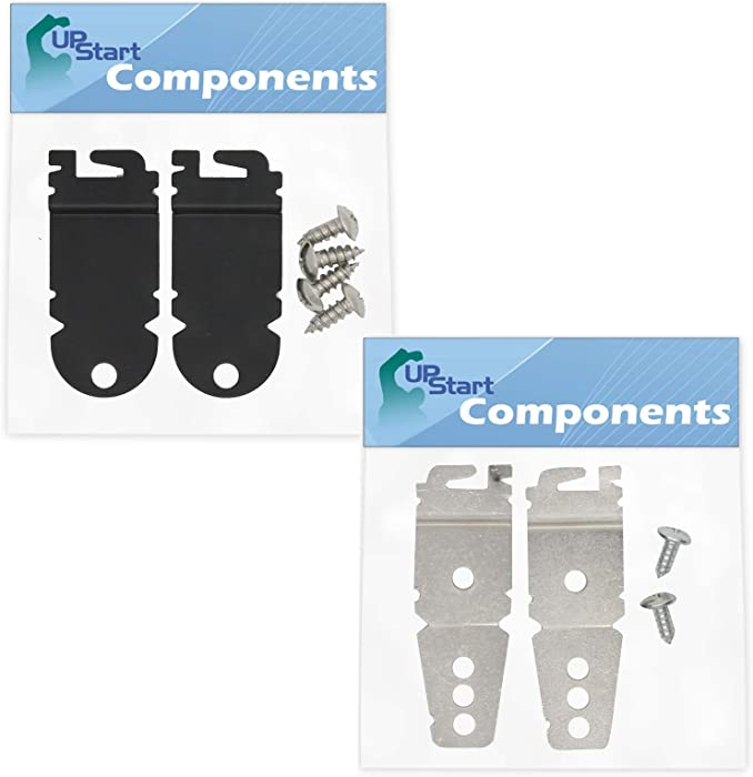 8212560 & 8269145 Mounting Bracket Replacement Kit With Screw Replacement for Kenmore/Sears 66513733K601 Dishwasher - Compatible with WP8269145 & 8212560 Undercounter Dishwasher Mounting Bracket