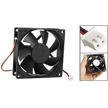 DandeliondemeDC 12V Black 80mm Square Plastic Cooling: Amazon co uk