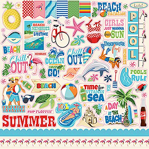 Summer Splash Cardstock Stickers 12