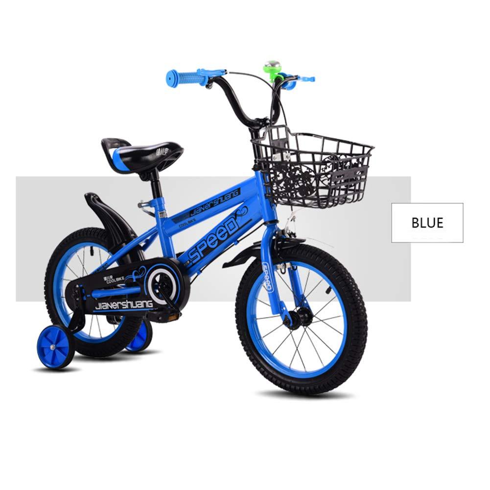 The Children's Bicycle 2-4-6歳 男の子 子供 6-7-8-9-10歳 ベビー キャリッジガール 14 inches ブルー 1035 B07JKX274S 14 inches|ブルー ブルー 14 inches