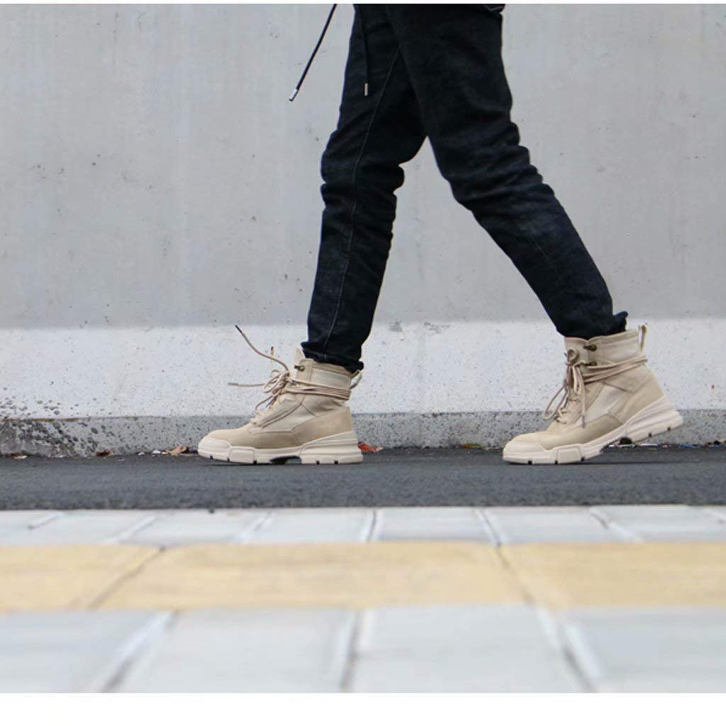 TK-schuhe TK-schuhe TK-schuhe Martin Stiefel Männer Hohe Qualität Leinwand SAMT Stiefel Britischen Leder Verschleißfesten Desert Stiefel Schuhe Flut Männlichen High-Top-Schuhe Stiefel a77ec5
