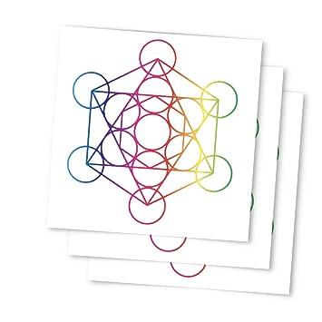 0bc1c621c Tattoo Moments Sacred Geometry Temporary Tattoos - Metatron's Cube (Set of  3 Tattoos) -