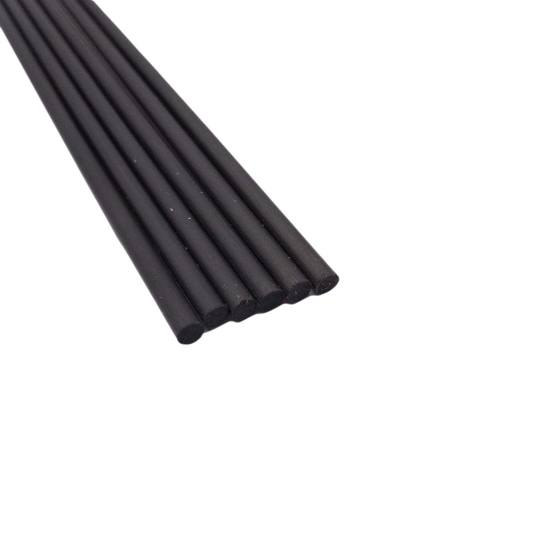 6pcs uxcell Carbon Fiber Rod 3.5mm 500mm//19.6inch Length Carbon Fiber Round Rod for RC Airplane Matte Pole