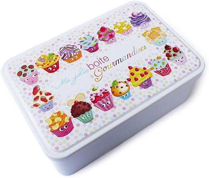 Kalam - Caja metálica decorada, diseño de dulces con texto en ...