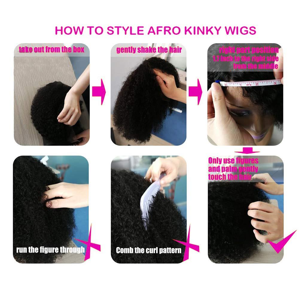 SAGA QUEEN Hair Mongolian Afro Kinky Curly Clip In Hair Extensions 8pcs 18clips 120g/bundle Mongolian Virgin Remy Human Hair (1 bundle 8inch, natural black) by SAGA QUEEN