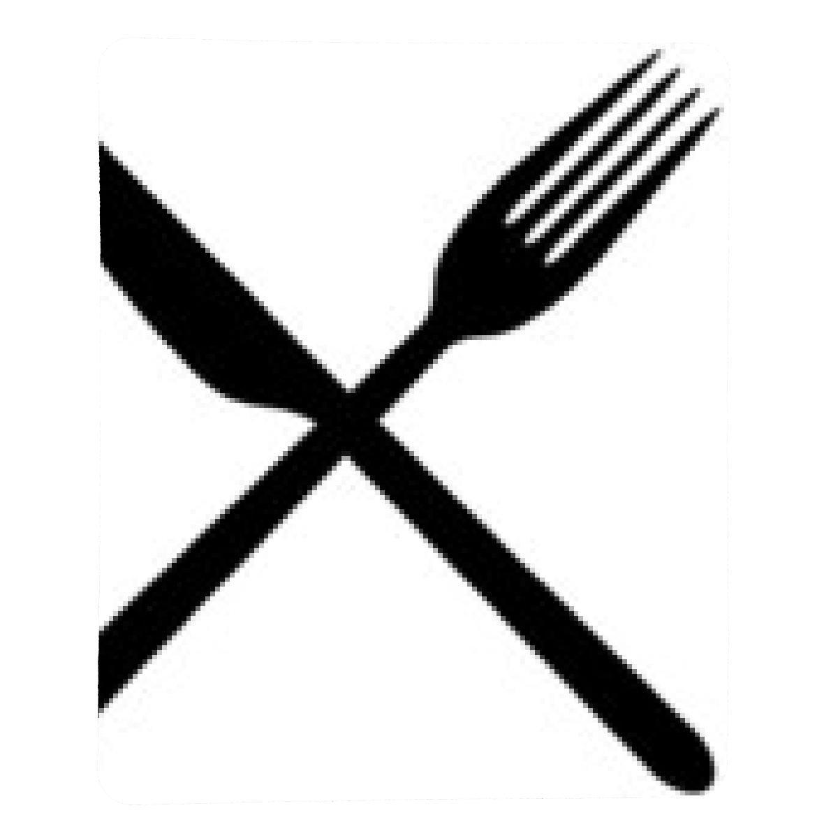 alfombrilla de ratón cuchillo y tenedor cruzados: Amazon.es ...