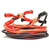 XINCOL Heavy Duty 1-Gauge Ultra 2500A 100% Copper Wire Jumper Cable Booster Cable For Truck Anti-frozon Heat Insulation Jump Leads with Free Carry Bag Size 20Ft