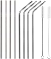 Stainless Steel Metal Drinking Straws Reusable