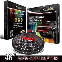 """Partsam 48"""" Truck Tailgate Red/white LED Light Bar for Reverse Running Brake Turn Signal for GMC Sierra C1500-C3500 K1500-K3500, Chevy Silverado, Dodge Ram 1500-5500, F150 F250 F350 Pickup Trucks"""