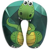Funny Green Dinosaur Cartoon Super Comfortable U Type Pillow Neck Pillow Relex Pillow Travel Pillow With Resilient Material