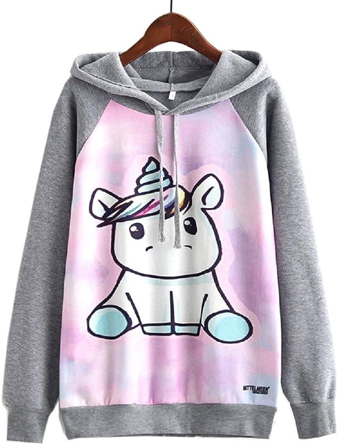 FLYFISH bluza z kapturem dla kobiet i dziewcząt Street z nadrukiem: Odzież