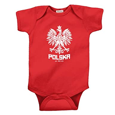18ac8b7bffd6 Amazon.com  POLSKA POLISH DANCE SOCCER POLAND FOOTBALL INFANT baby ...