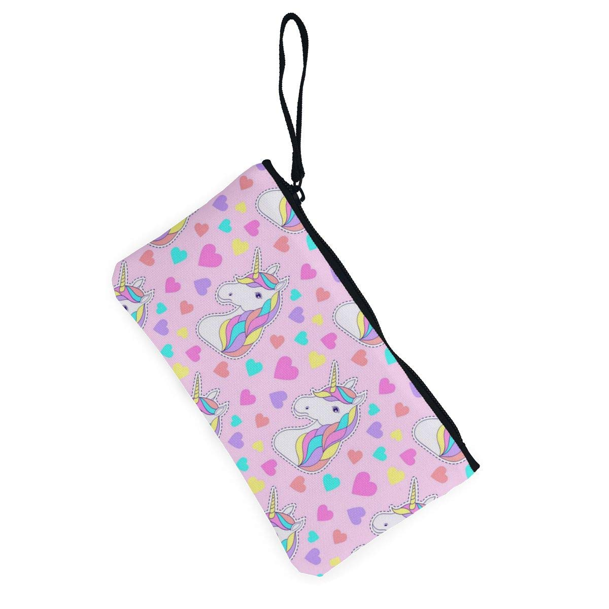 Yamini Pink Pattern with Colorful Love Unicorn Cute Looking Coin Purse Small and Exquisite Going Out to Carry Purse