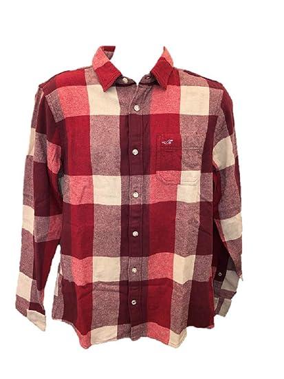 e34b83644e9 Hollister New Flannel Check Shirt Cream