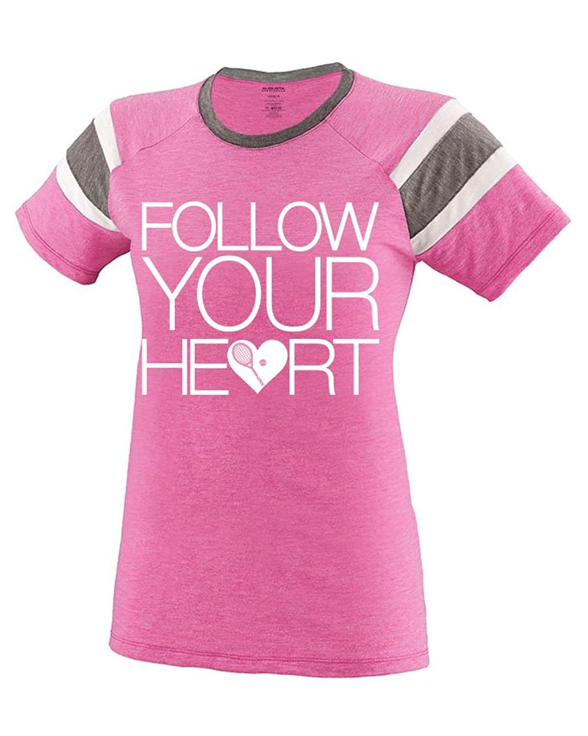 Sports Katz Womens 'Follow Your Heart' TENNIS Fanatic Tee