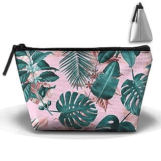 Borsa per il trucco da viaggio con foglie tropicali Borsa da pozione con cerniera per borsa Cluth