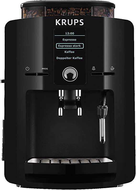 Krups EA8250 - Máquina de café, LCD, color negro, 1450 W: Amazon ...