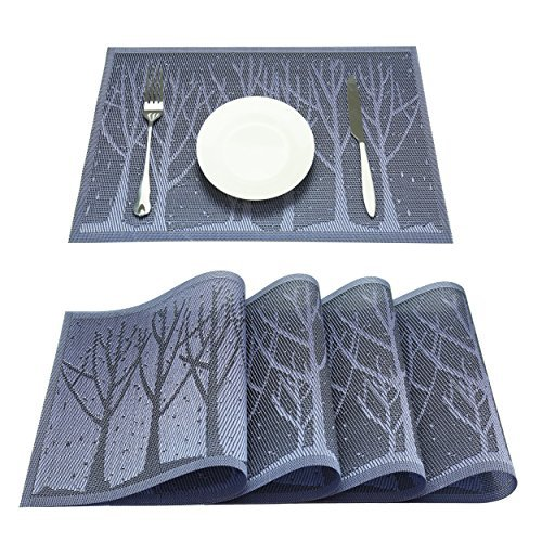 Z.Jian Set Of 4 Placemats, Placemats for Dining