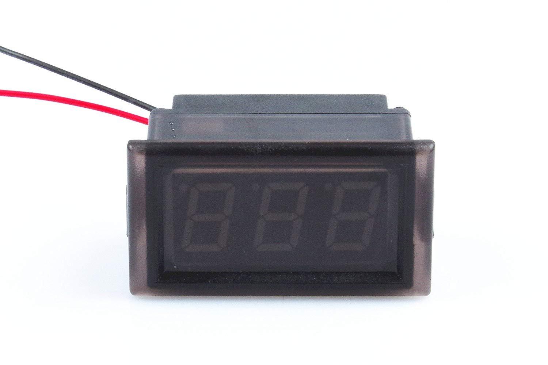 Waterproof Monitor 2-Wires DC 3.5-150v 12v 24v 36v 72v 96v Volt Battery Meter Voltage Tester Automative Electric Cars Gauge Small Digital Voltmeter BLUE 0.52'' LED Display by TOFKE (Image #8)