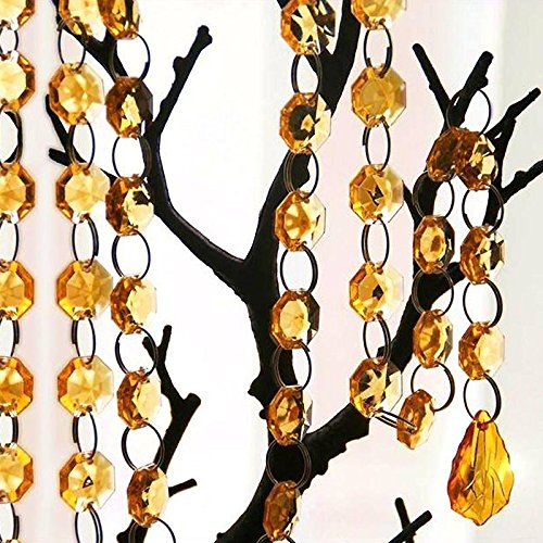 Efavormart 3 FT Acrylic Crystal Garland Hanging Beads Event Wedding Banquet Party Decoration Centerpiece Decor Teardrop - Topaz