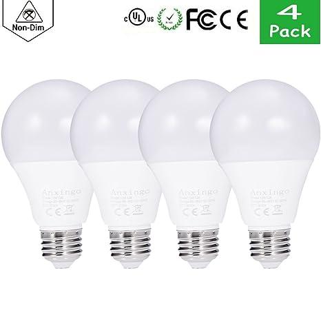 anxingo 4 unidades) A19 LED bombilla 13 W luz LED Bombillas Luz blanca cálida,