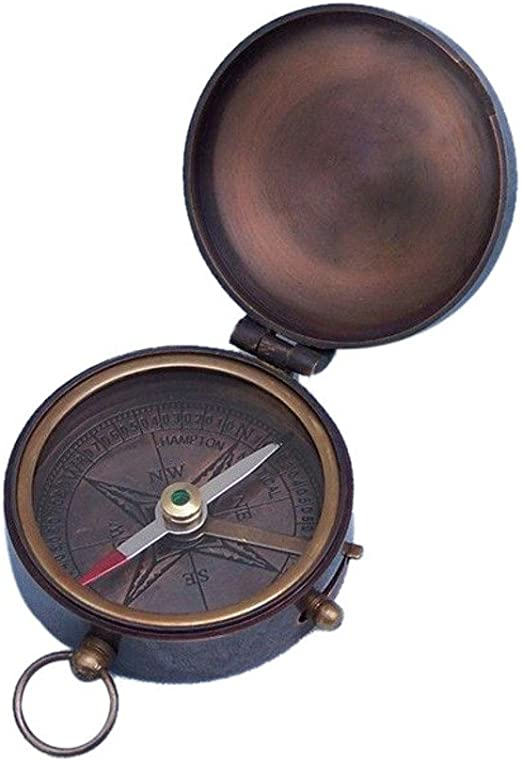 Hampton Nautical 3xglass-101 Antique Copper Lewis /& Clark Pocket Compass 3 Nautical Home Decoration 3