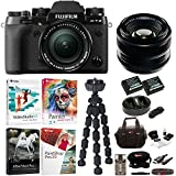 Fujifilm X-T2 Mirrorless Digital Camera with 18-55mm and 35mm f/1.4 XF R Lens and Software Bundle
