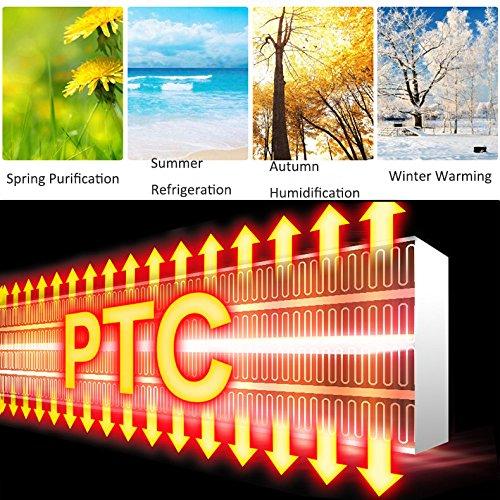 GX&XD Tranquilo sin bisturí Ventilador del acondicionador de aire,Enfriadores evaporativos Con control remoto Doble uso para agua fría y caliente Aire 4 ...