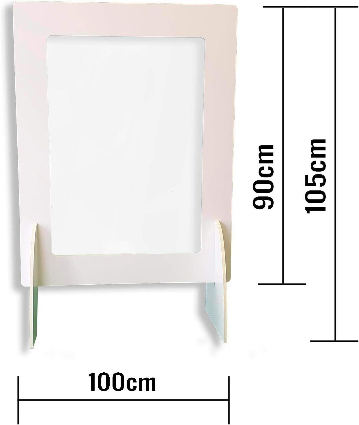 Pantalla Protección Mostrador 100x90cm - Fabricado en Foam 10mm y ...